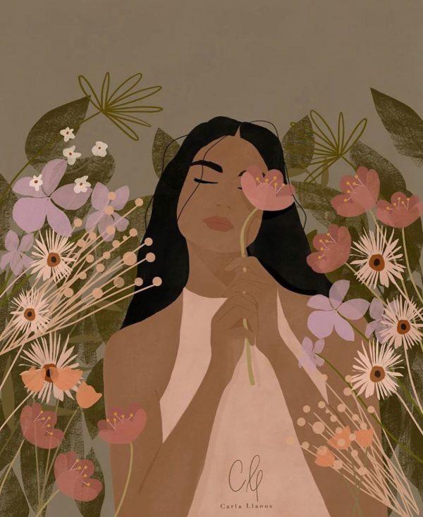 flower girl print carla llanos