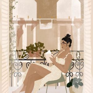summer in paris illustration print carla llanos