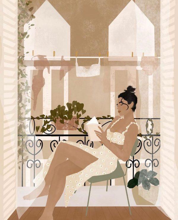 summer in paris illustration print carla llanos