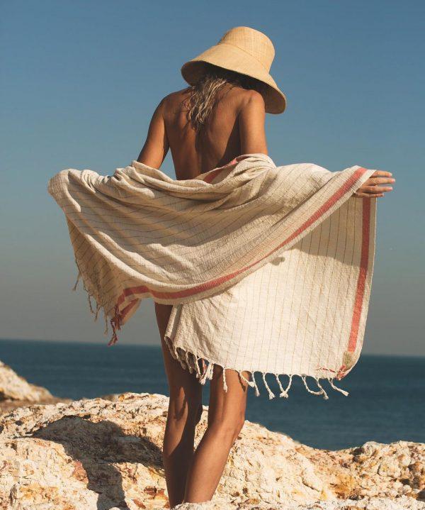 handwoven beach towel