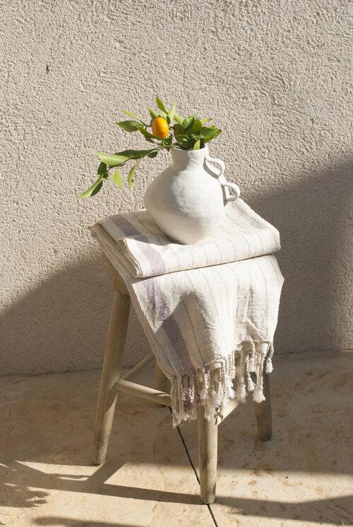 bahia lavender handwoven towel