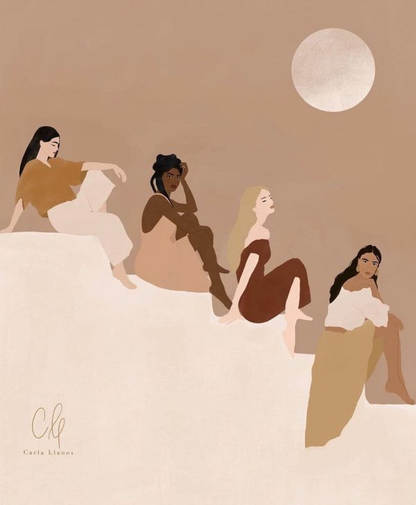 Women illustration print carla llanos