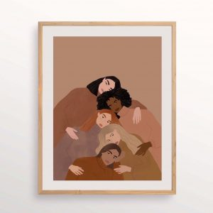 women supporting women print carla llanos